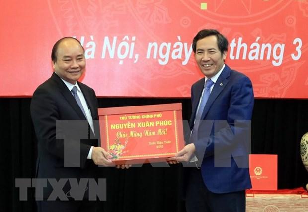 阮春福:《人民报》报社须进一步提高出版物质量 扩大报社知名度 hinh anh 1
