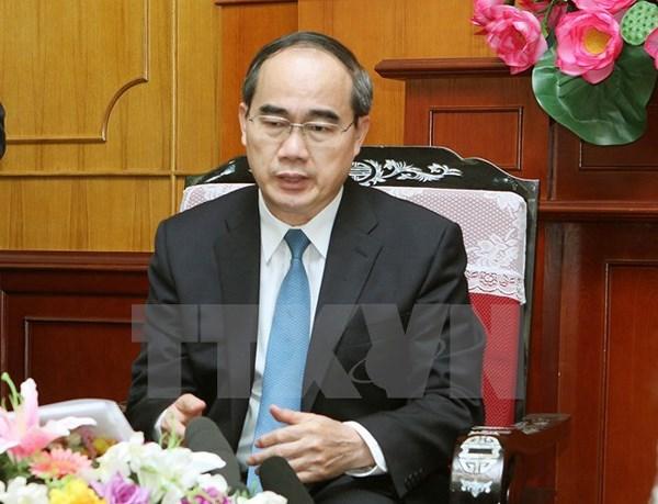 胡志明市领导会见外国投资者 hinh anh 1