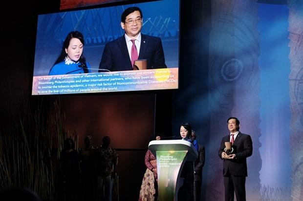 越南卫生部荣获2018年全球控烟奖 hinh anh 1