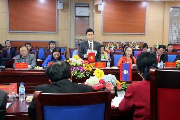 老挝国会民族委员会访问越南乂安省 hinh anh 2