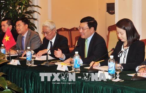 越南与韩国两国外交部加强合作 hinh anh 1