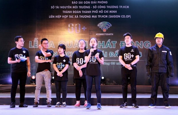 2018年地球一小时活动吸引2000多名青年参加 hinh anh 1