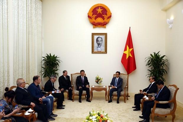 越南政府副总理武德儋会见世界国际象棋联合会主席柳姆日诺夫 hinh anh 2
