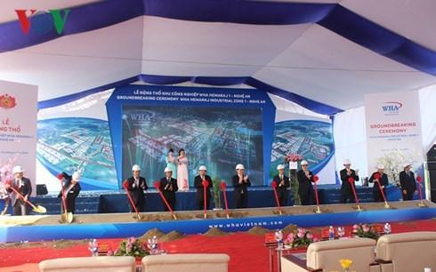 越南乂安省WHA合美乐工业园区项目开工兴建 hinh anh 1