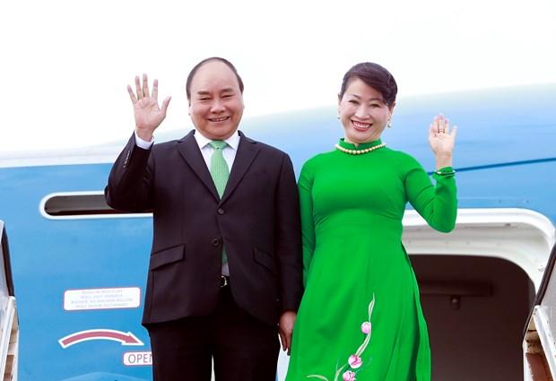 阮春福启程赴新澳进行正式访问 hinh anh 1