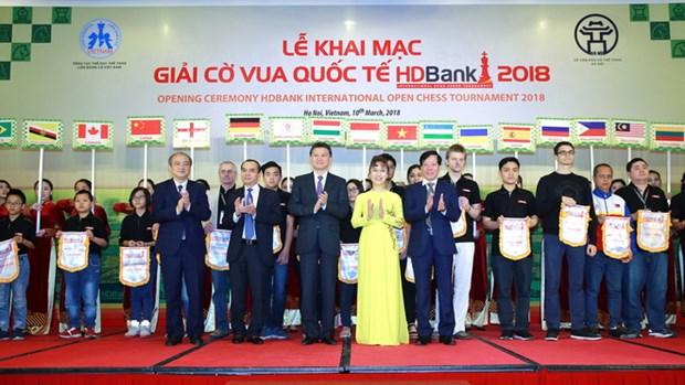 2018年HDBank国际象棋比赛吸引271名选手参加 hinh anh 1
