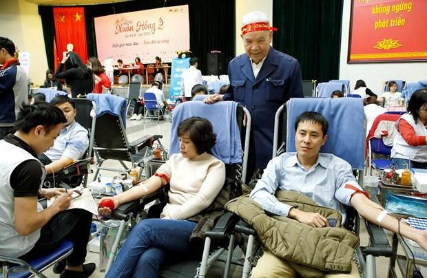 2018年第十一次春红献血节的献血量突破10200单位 hinh anh 2