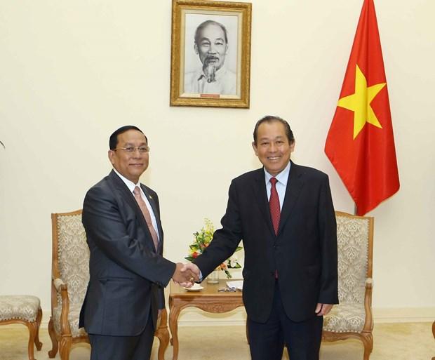 努力推动越南与缅甸合作走向深入 hinh anh 1