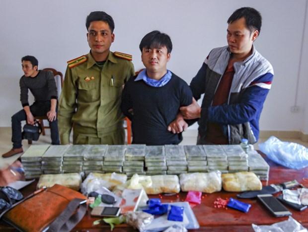 越南和老挝合作破获一起贩毒案 缴获大量毒品 hinh anh 1