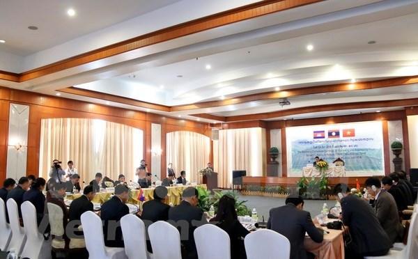2017年越老柬三国打击跨境拐卖人口专项行动总结会议在老挝举行 hinh anh 1