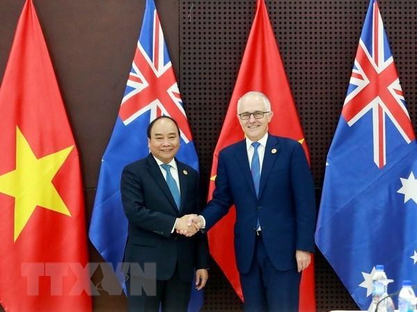 政府总理阮春福访澳之行:提升越南在国际舞台上的地位 hinh anh 1