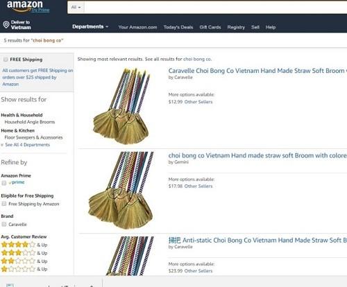 越南的草扫帚和香菜在美国亚马逊畅销 hinh anh 1