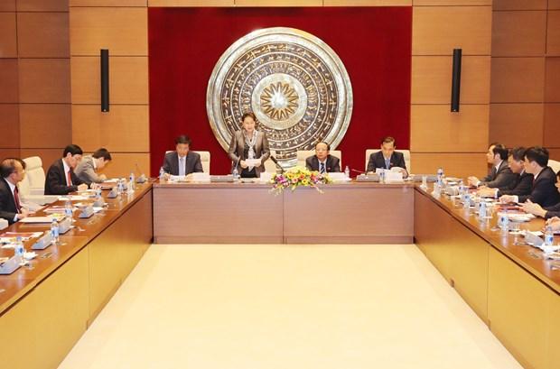 越南国会主席阮氏金银会见越南中小企业协会代表 hinh anh 1