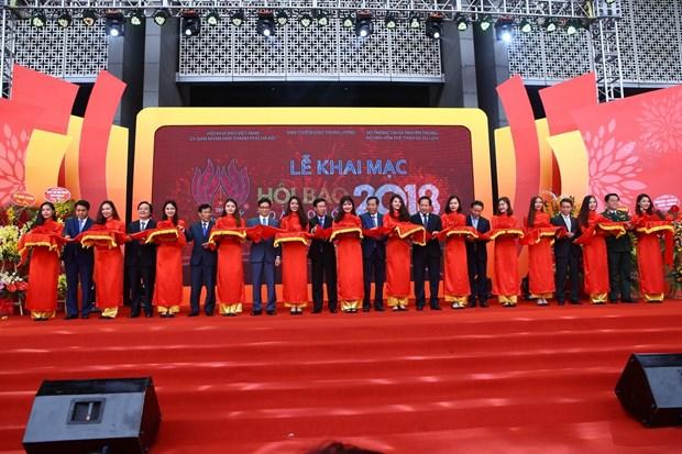 2018年越南全国报刊展正式开展 hinh anh 1
