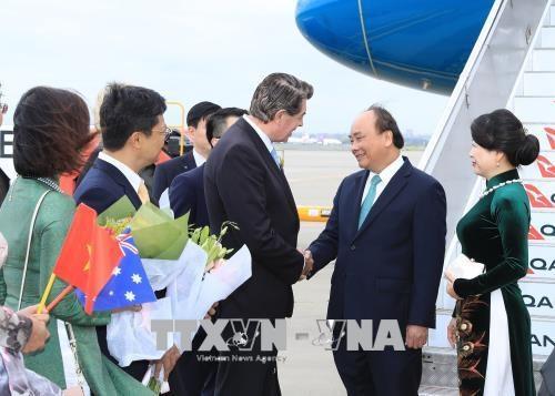 阮春福前往澳大利亚悉尼市出席东盟—澳大利亚特别峰会 hinh anh 2