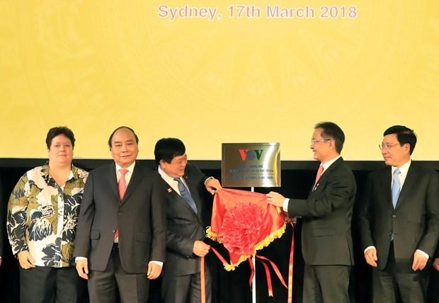 越南政府总理阮春福出席越南之声广播电台驻澳大利亚办事处揭牌仪式 hinh anh 1