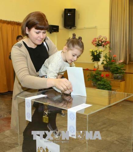 18日 在越南俄罗斯公民陆续参加总统选举投票 hinh anh 3