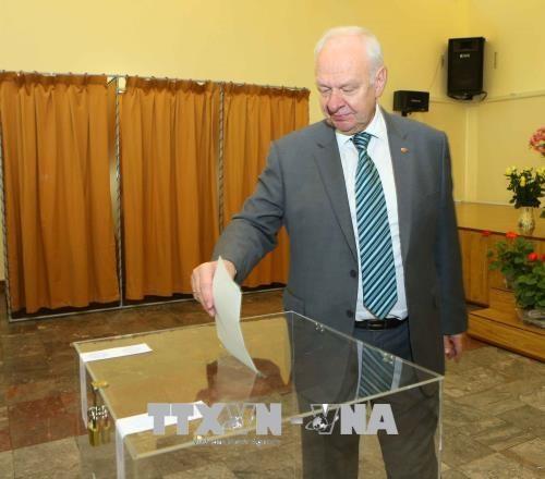 18日 在越南俄罗斯公民陆续参加总统选举投票 hinh anh 1