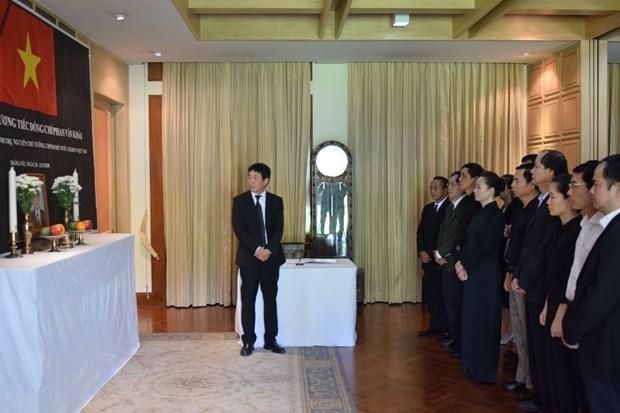 越南驻泰国和印尼大使馆为原政府总理潘文凯举行吊唁仪式 hinh anh 1