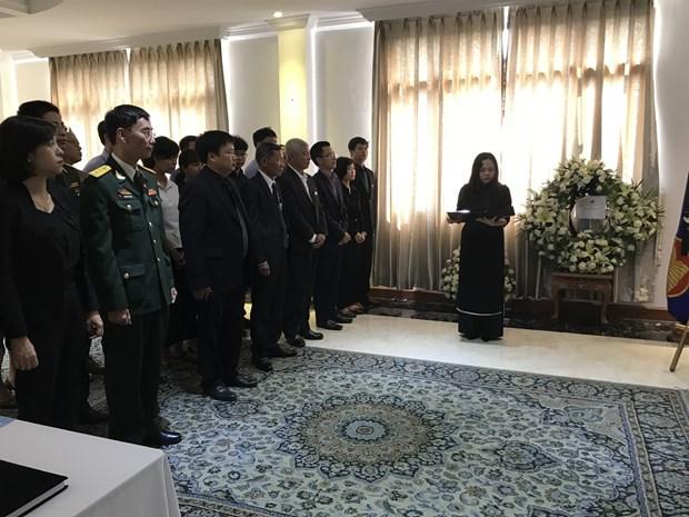 越南驻中国、马来西亚和缅甸大使馆为原政府总理潘文凯举行吊唁仪式 hinh anh 1