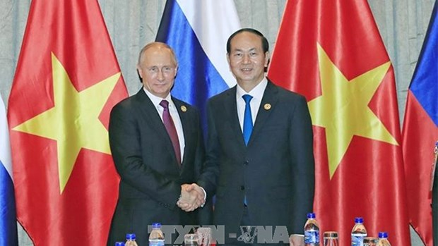 越南国家主席陈大光致电祝贺普京再次当选俄罗斯总统 hinh anh 1