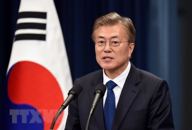 韩国总统文在寅希望将韩越战略合作伙伴关系提升到新台阶 hinh anh 1