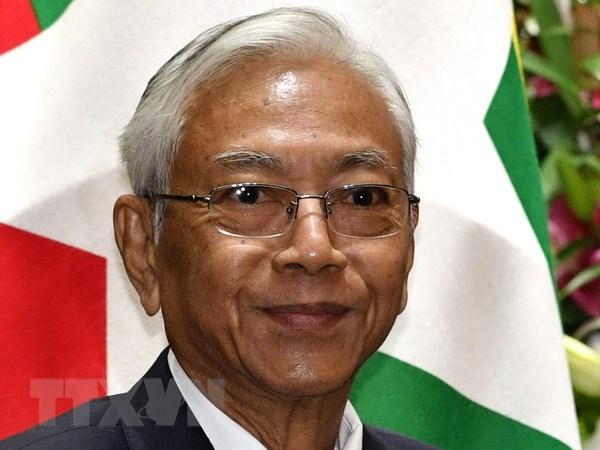 缅甸总统吴廷觉 众议院议长吴温敏辞职 hinh anh 1