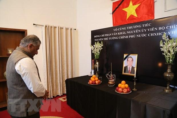 越南驻世界多国举行前总理潘文凯吊唁仪式 hinh anh 2