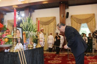 多支国内外代表团前来吊唁原政府总理批潘文凯 hinh anh 2