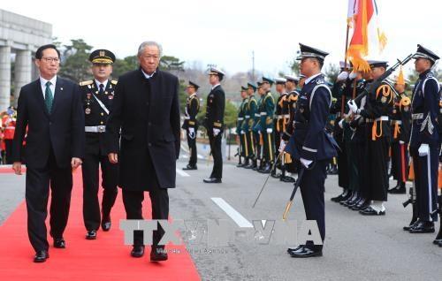韩国和新加坡同意维持伙伴关系共同解决安全问题 hinh anh 1