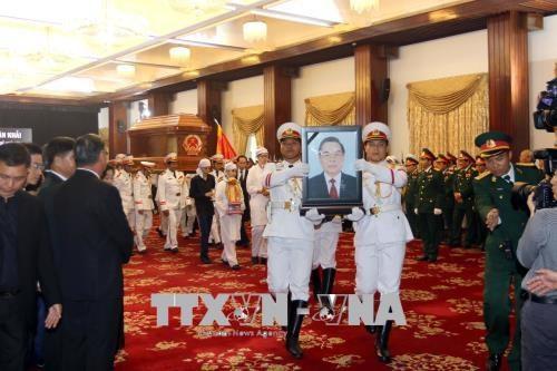 原政府总理潘文凯追悼会和安葬仪式隆重举行 hinh anh 1