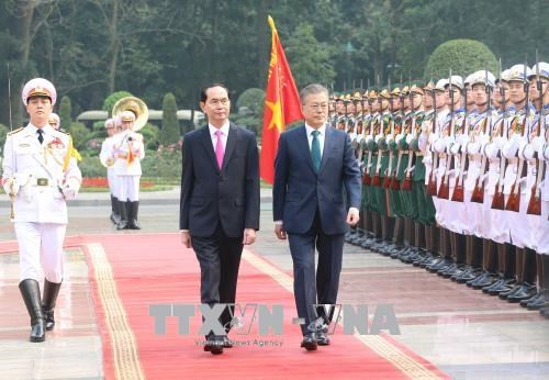 越南与韩国发表联合声明 hinh anh 1