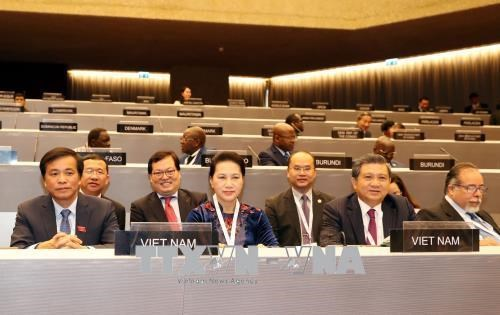 国会主席阮氏金银出席议联第138届大会全体会议 hinh anh 1