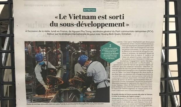 法国报刊高度评价越南经济发展成就 hinh anh 1