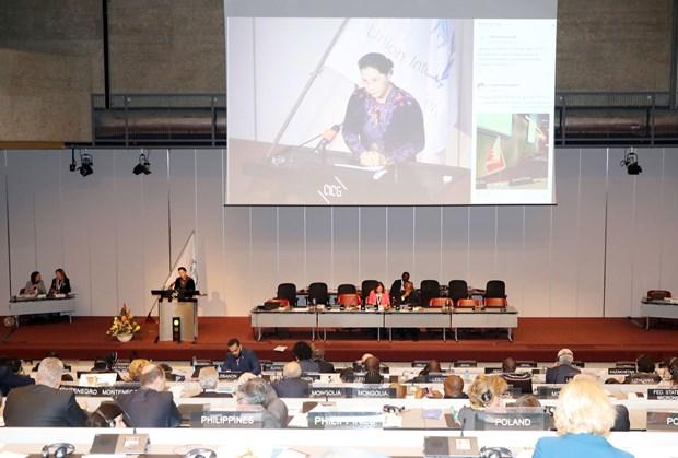 越南国会主席在议联第138届大会全体会议上发表重要演讲 hinh anh 1