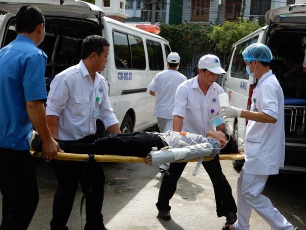 越南参加国际自然灾害卫生应急演习 hinh anh 1