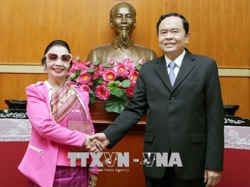 进一步巩固越南祖国阵线与老挝建国阵线的合作 hinh anh 1