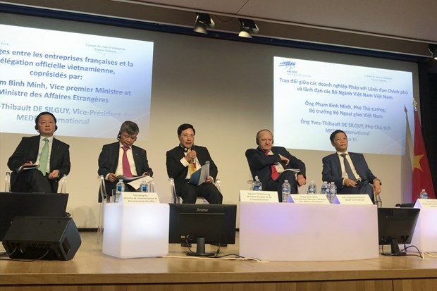 法国企业与越南政府和各部门领导沟通交流 hinh anh 1