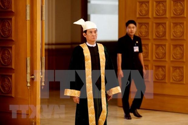 吴温敏当选为缅甸新总统 hinh anh 1