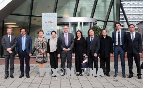 国会主席阮氏金银参观访问荷兰机场咨询公司 hinh anh 1