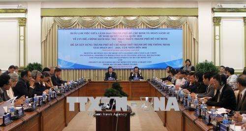 胡志明市向外国领事团介绍智慧城市建设项目 hinh anh 1