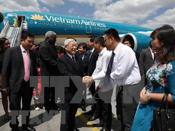 越共中央总书记阮富仲开始对古巴进行国事访问 hinh anh 1