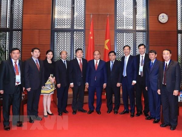 阮春福总理会见出席GMS-6的中国各地方领导 hinh anh 1