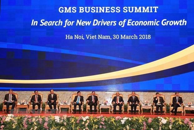 阮春富总理主持GMS商务峰会的政策对话全体会议 hinh anh 1