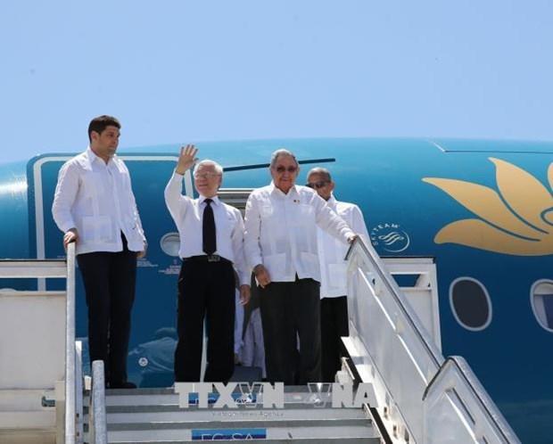 越共中央总书记阮富仲造访古巴圣地亚哥 hinh anh 1