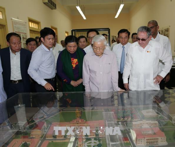 越共中央总书记阮富仲造访古巴圣地亚哥 hinh anh 2