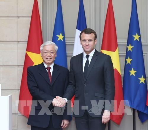 越共中央总书记阮富仲圆满结束访问法国和古巴两国之行 hinh anh 1