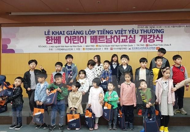 越韩多文化家庭子女越南语培训班正式开班 hinh anh 1