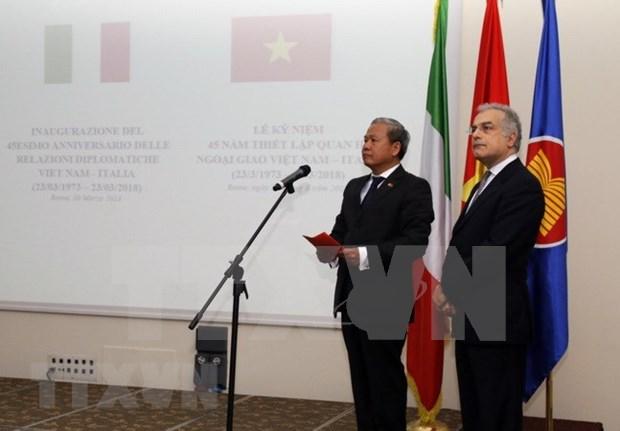 意大利是越南在欧洲和世界上的重要伙伴 hinh anh 1