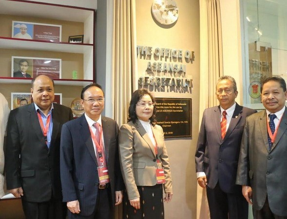 东盟最高审计机构秘书处办公室揭牌成立 hinh anh 1